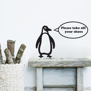 Bertie The Penguin Personalised Wall Sticker - personalised