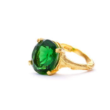 Drop In The Wild Ring With Emerald Quartz