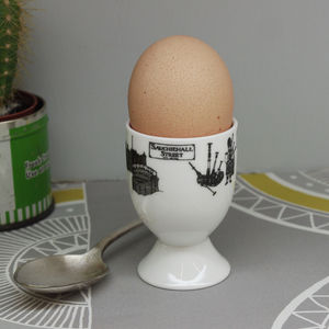 Illustrated Scotland Eggcup - egg cups & cosies