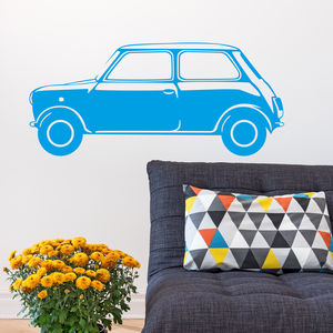 Classic Mini Vinyl Wall Sticker Side - decorative accessories