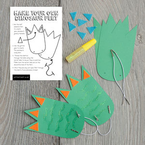 Make Your Own Dinosaur Feet