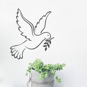 White Dove Vinyl Wall Sticker - wall stickers