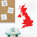 Great Britain Map Vinyl Wall Sticker