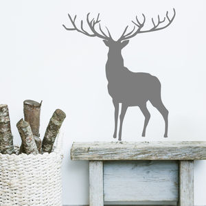 Stag And Deer Vinyl Wall Stickers - christmas sale