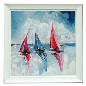 Three Boats One - canvas prints & art