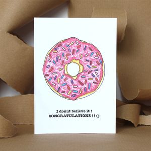 Congratulations Donut Card