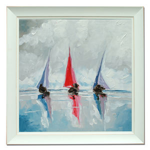 Three Boats Two - canvas prints & art