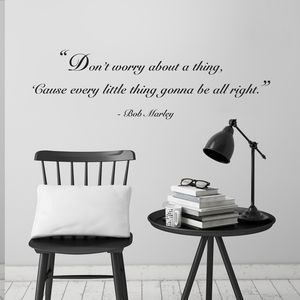 'Don't Worry' Quote Wall Sticker - bedroom