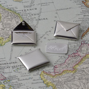 Bon Voyage Secret Message In A Silver Envelope Keepsake