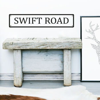 Personalised Road Name Wall Sticker
