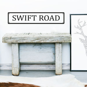 Personalised Road Name Wall Sticker - dining room