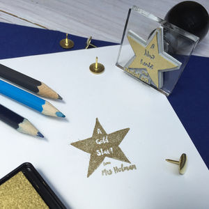Star Teacher Personalised Stamp Teacher Gift - gifts for teachers