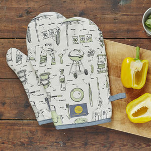 British Barbecue Oven Mitt - oven gloves & mitts
