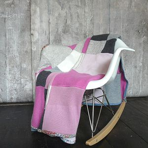 Patchwork Cashmere Blanket - luxury baby care