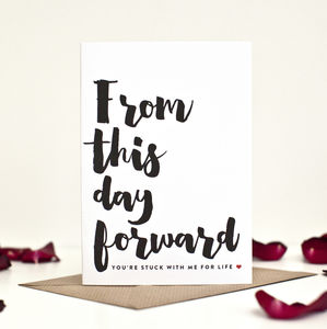 Funny Wedding Day Card To Groom - wedding cards & wrap