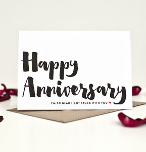 Funny Anniversary Card - anniversary cards