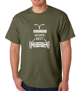 Grandad Mows Best Garden T Shirt - men's fashion