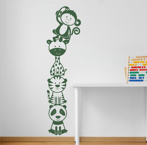 Jungle Animal Stacker Two Wall Sticker Decal - children's room