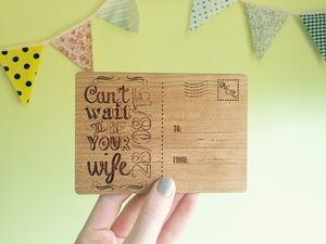 Personalised 'Can't Wait To Be Your Wife' Postcard - wedding cards
