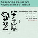 Jungle Animal Stacker Two Wall Sticker Decal