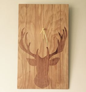 Stag Wall Clock - bedroom
