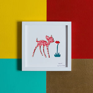 'Bambi' Deer New Baby Gift Artwork