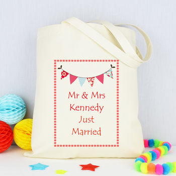 Personalised 'Just Married' Beach Bag
