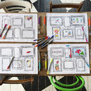 Doodle Frame Placemat Set To Personalise