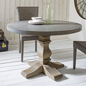 Round Pedestal Dining Table - furniture