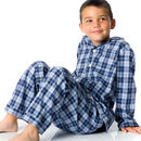 Dark blue check pyjamas