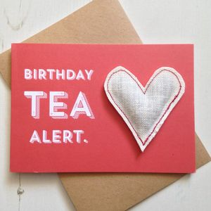 Birthday Celebration Tea Card - teas, coffees & infusions