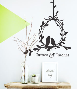Love Birds Vinyl Wall Sticker