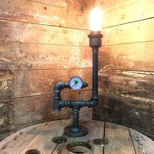 Upcycled Gauge Pipe Lamp - stationery & desk accessories