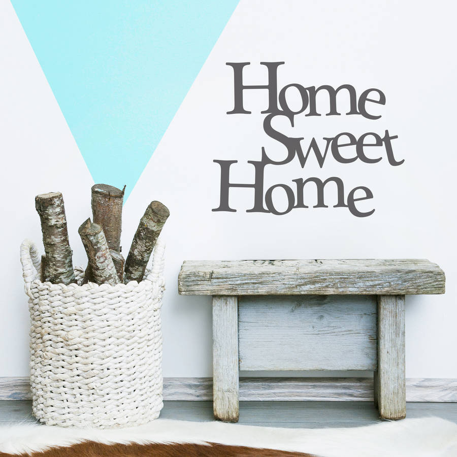 Home Sweet Home Vinyl Wall Sticker Part 9