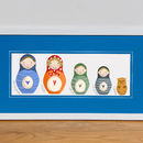 Personalised 'Russian Doll Family' Print