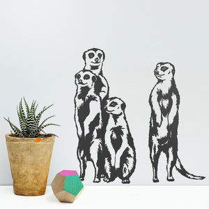 Meerkat Vinyl Wall Stickers - decorative accessories
