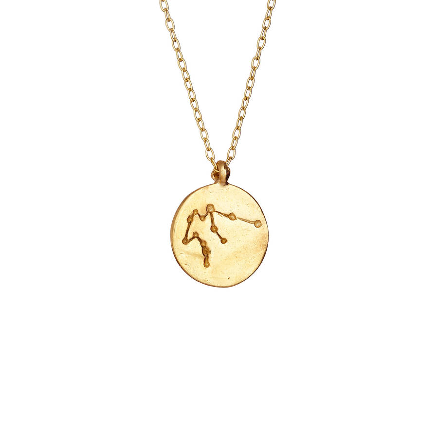 h necklace aquarius maje color zodiac sign com jewellery gold carryover constellation en verseau