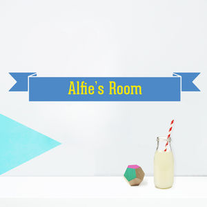 Personalised Room Name Sticker