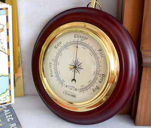 Personalised Wooden Barometer Dial - clocks