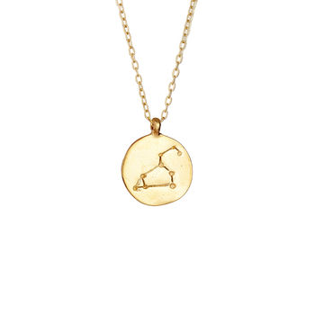 We Are All Made Of Stars Leo Necklace Gold