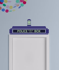 Police Box Wall Sticker - children's room