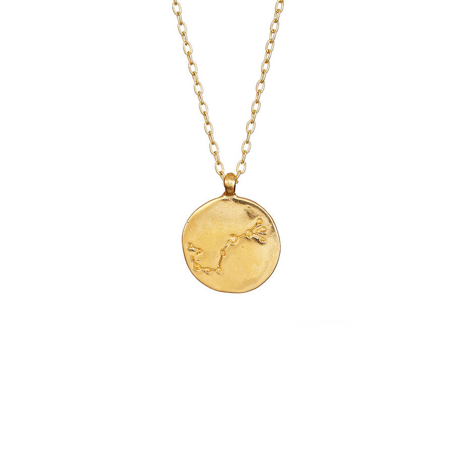 scorpio uk necklace vermeil astley zodiac pendant clarke biography yellow gold