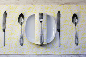Printed Table Runner In Cutlery Design - dining room