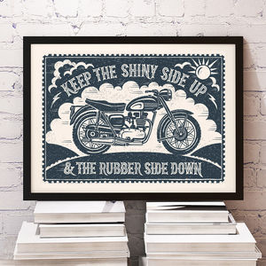 Bikers Motorbike Print - prints & art sale