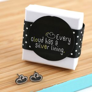 Every Cloud Silver Lining Earrings - jewellery gifts for friends