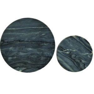 Set Of Two Grey Marble Coasters