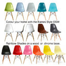 A Eames Style Dining Chair Set Six