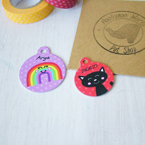 Personalised Double Sided Cat Or Pet ID Tag - for cats