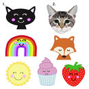 Personalised cat tag characters