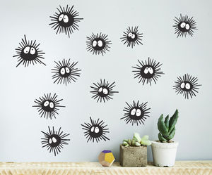 Soot Sprite Wall Sticker Set - wall stickers